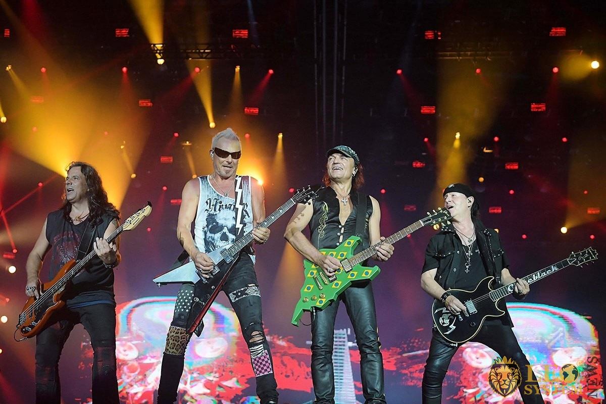 Scorpions rock band during a Rock in Rio concert in Rio de Janeiro, 2019