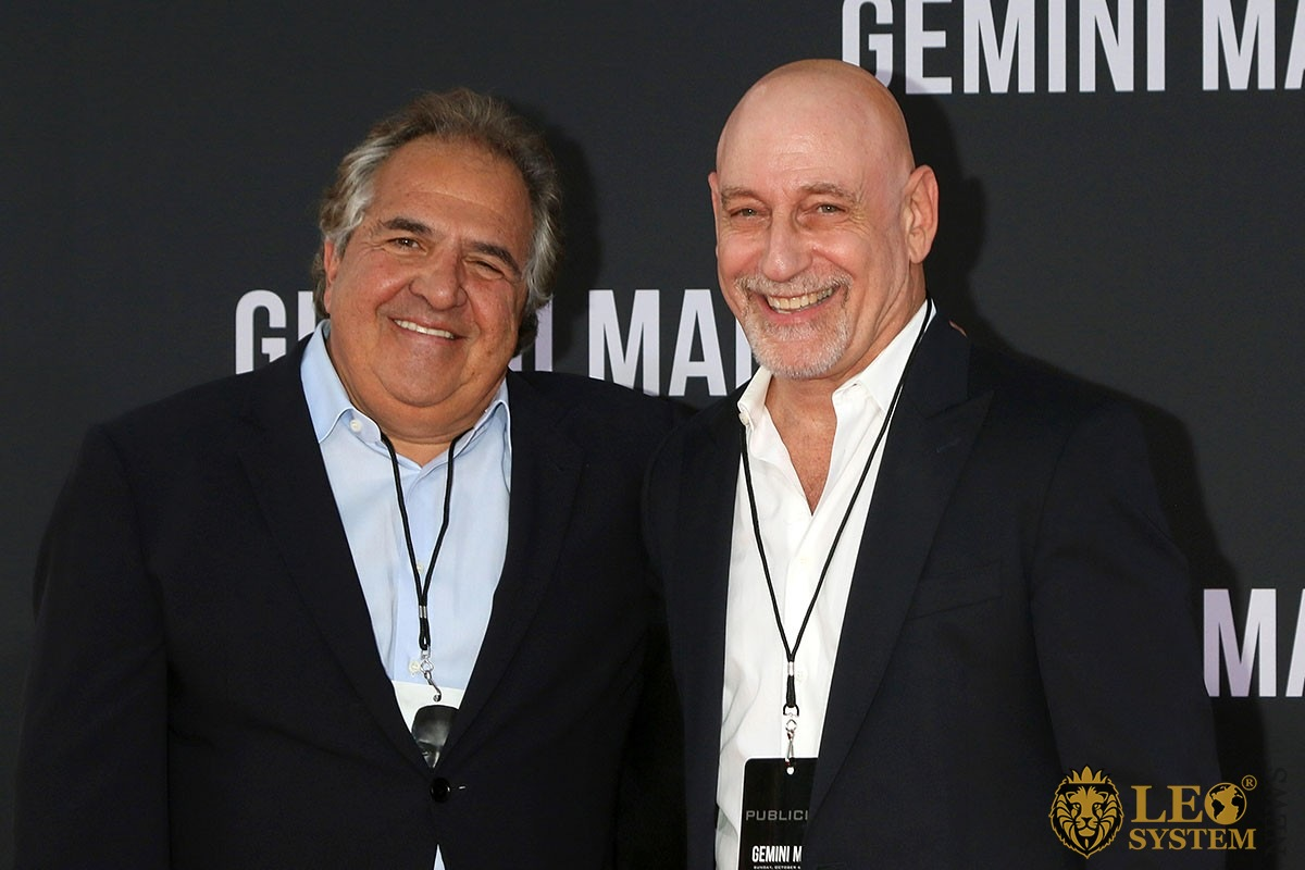 "Jim Gianopulos, Alan Nierob - at the ""Gemini"" premiere at the TCL Chinese Theater IMAX in Los Angeles"