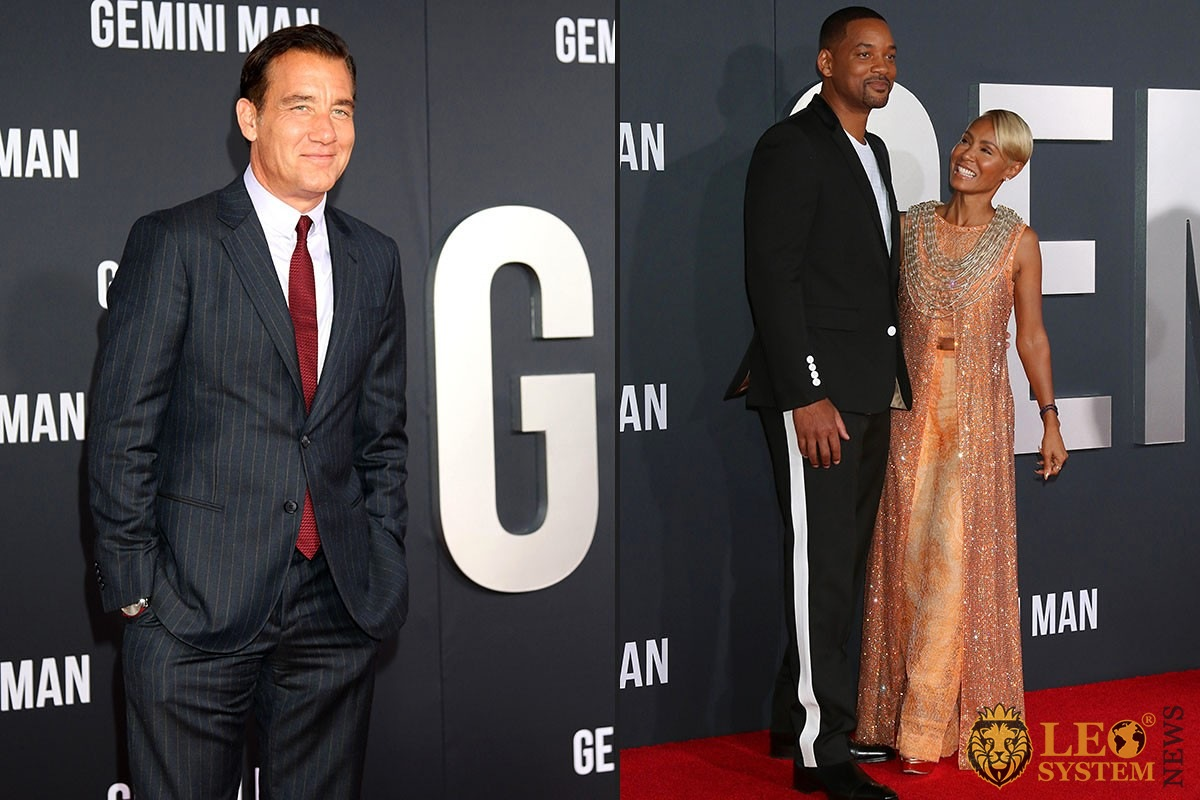 "Clive Davis, Will Smith and Jada Pinkett Smith - at the ""Gemini"" premiere at the TCL Chinese Theater IMAX in Los Angeles"