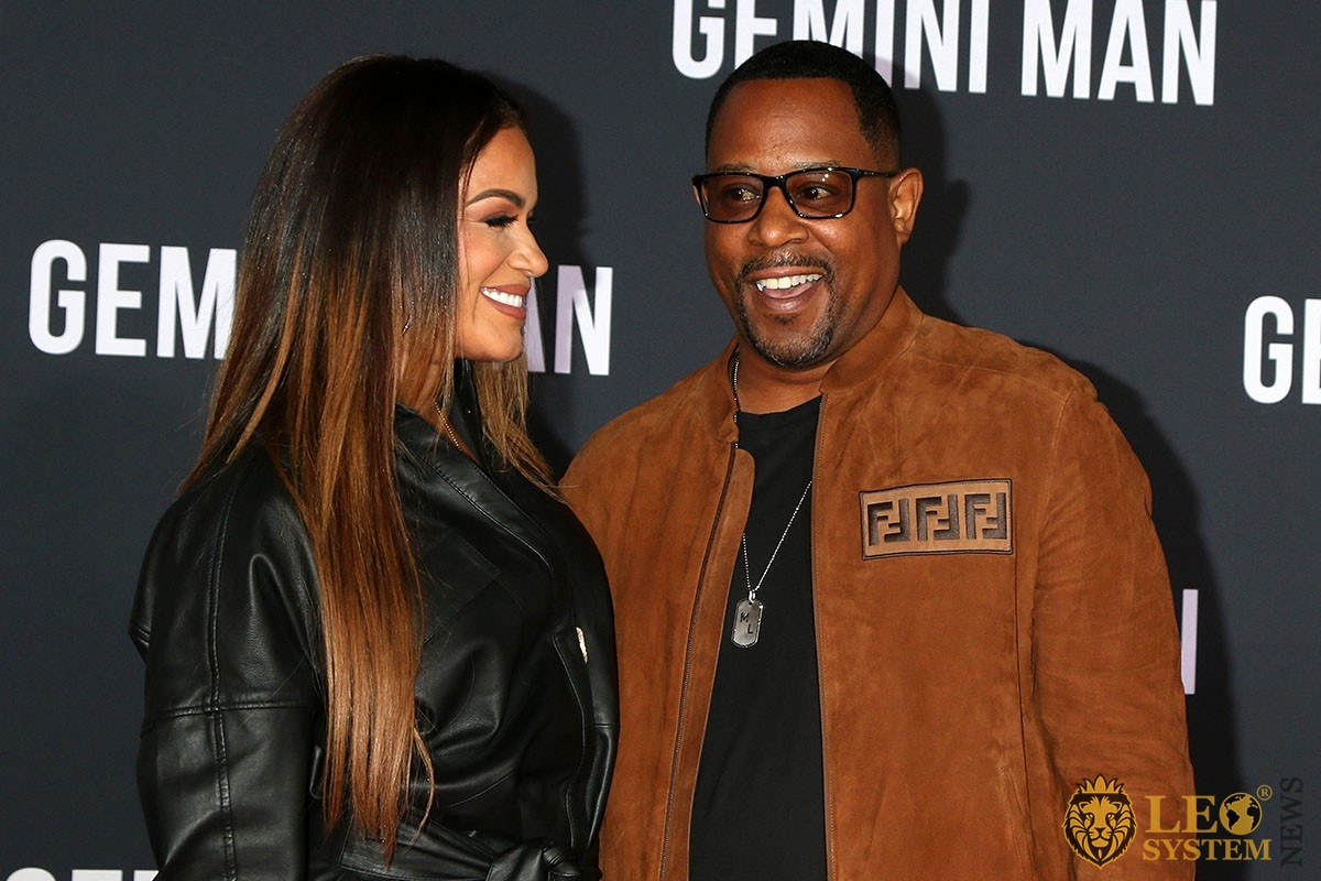 "Roberta Moradfar and Martin Lawrence - at the ""Gemini"" premiere at the TCL Chinese Theater IMAX, Los Angeles"