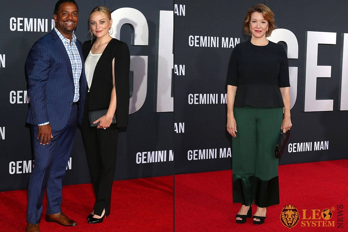 "Alfonso Ribeiro and Angela Unkrich, Linda Emond - at the ""Gemini"" premiere at the TCL Chinese Theater IMAX 2019 in Los Angeles"