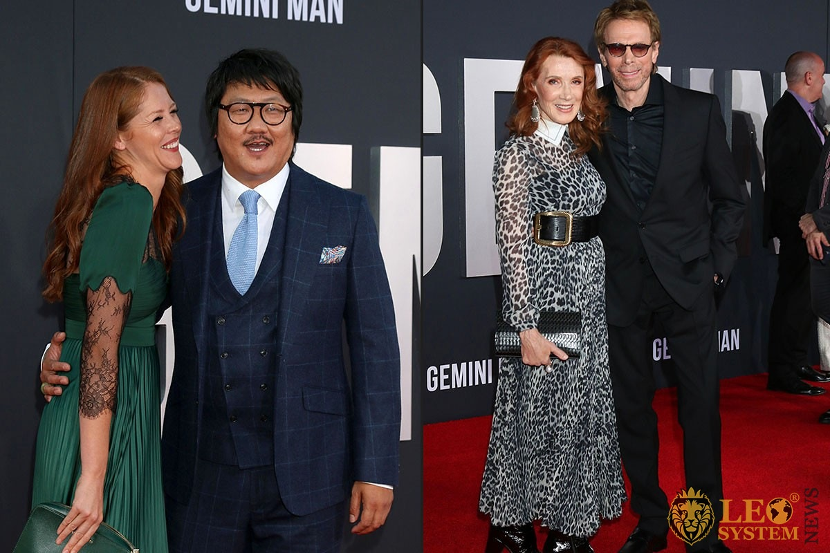 "Kelly Macdonald and Benedict Wong, Linda Bruckheimer and Jerry Bruckheimer - ""Gemini"" premiere at the TCL Chinese Theater IMAX"