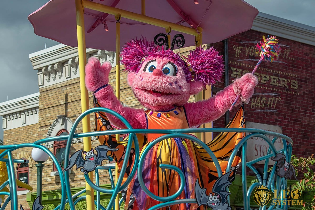 Abby Cadabby in Sesame street party parade