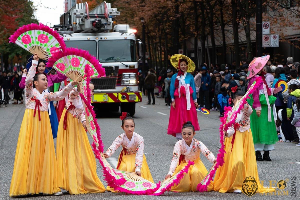 Vancouver's halloween street parade 2019 in Howe Street