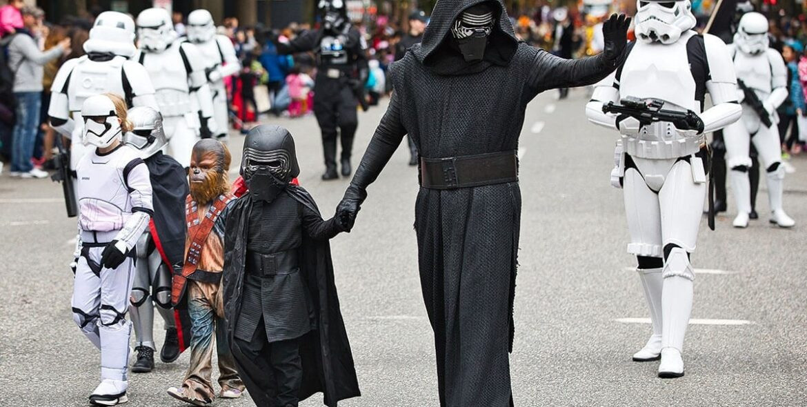 Vancouver's Halloween Street Parade 2019 in Howe Street, Vancouver, Canada