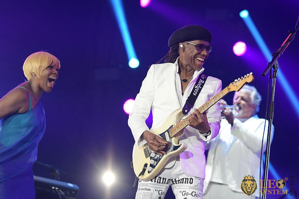 Guitarist Nile Rodgers of the band Chic - Rock in Rio 2019 in the city of Rio de Janeiro