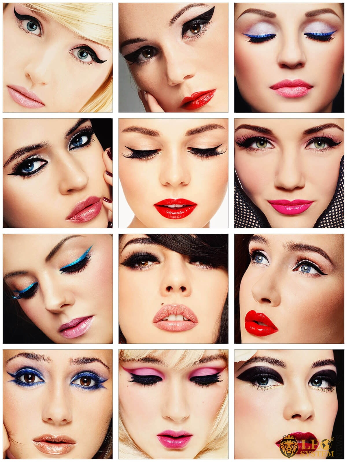 Women with different makeup options