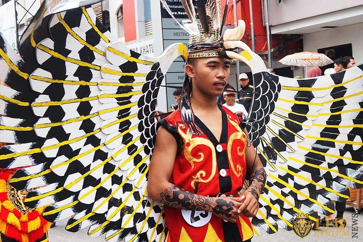 Festival parade in Pontianak - Anniversary event on Gajah Mada Street