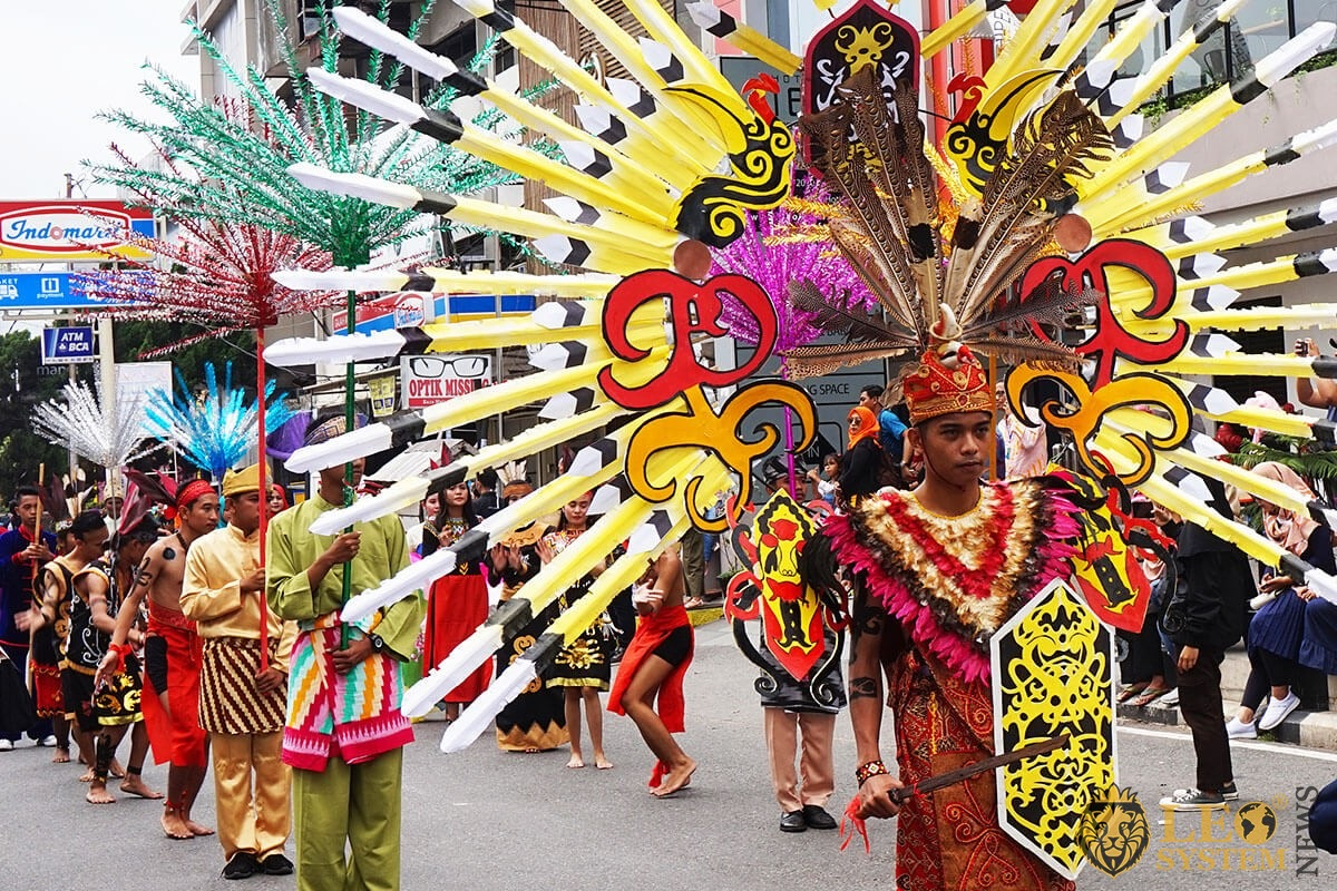 Festival parade in Pontianak, Indonesia, 2019