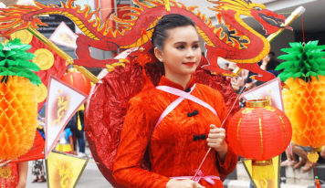 Festival Parade in Pontianak, Indonesia, West Kalimantan