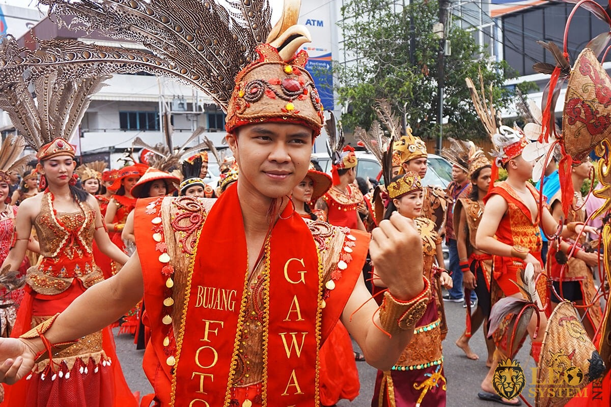 Festival Parade in Pontianak, Indonesia