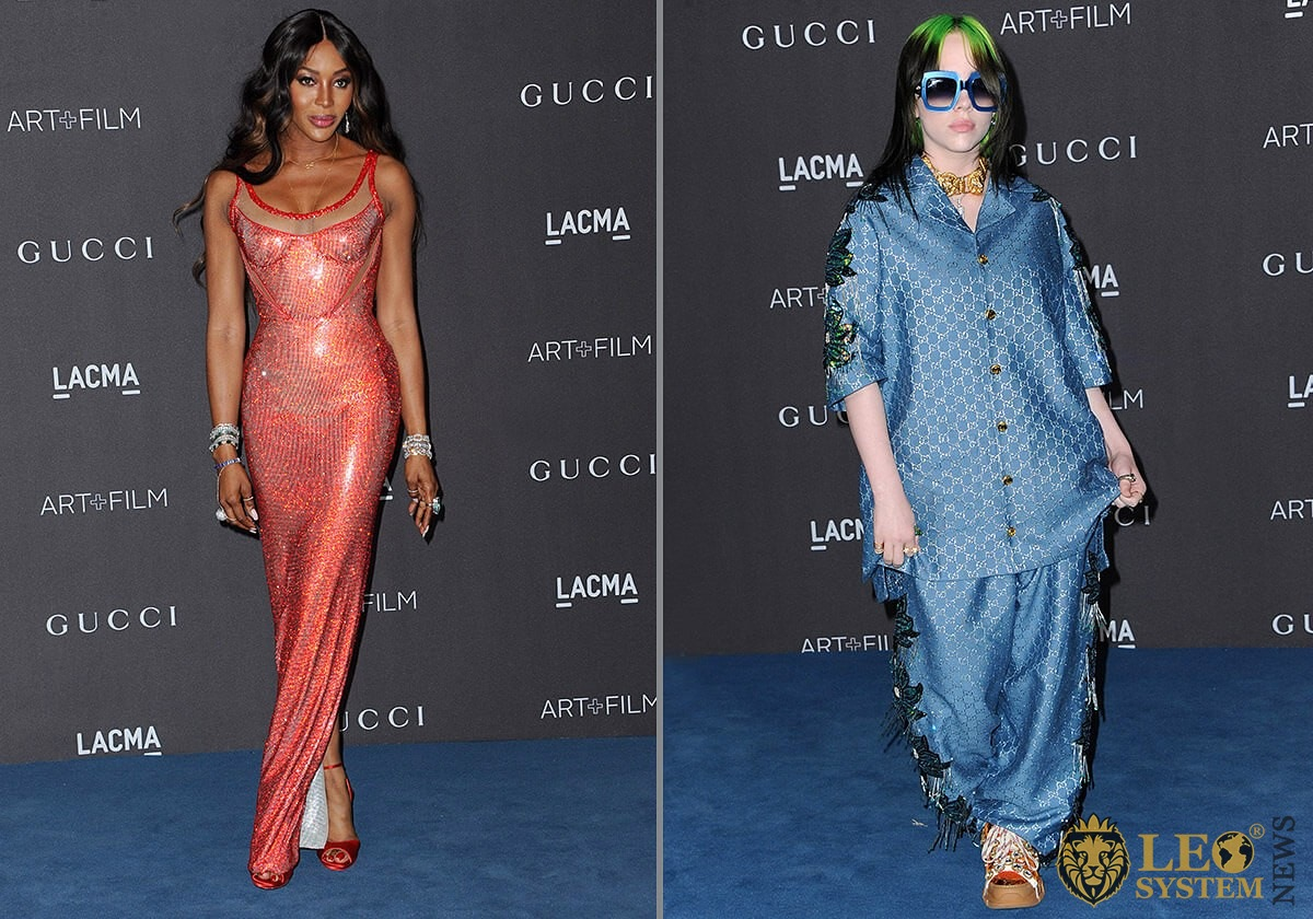 Naomi Campbell and Billie Eilish - LACMA Art plus Film Gala Presented By Gucci held at the LACMA in Los Angeles, USA, 2019