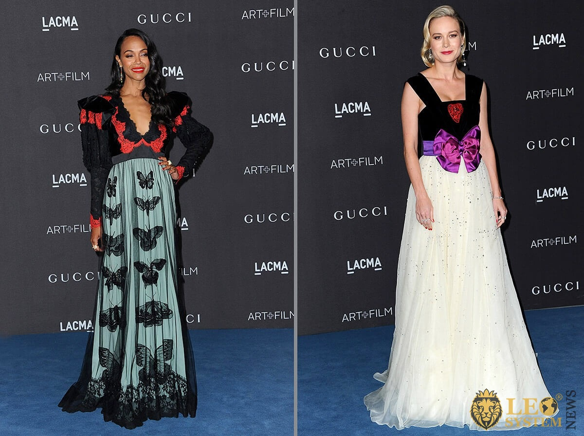 Zoe Saldana and Brie Larson - LACMA Art plus Film Gala Presented By Gucci held at the LACMA in Los Angeles, USA