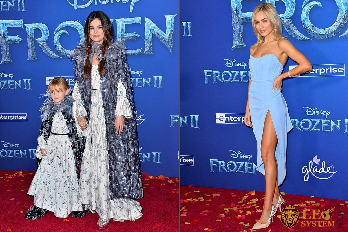 "Selena Gomez, Gracie Elliot Teefey and Michelle Randolph at the world premiere for Disney's ""Frozen 2"" at the Dolby Theater, USA"