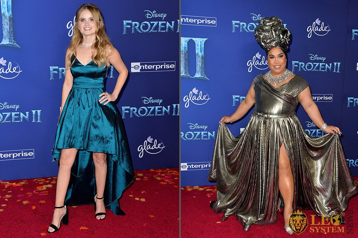 "Kayla Cromer and Patrick Starrr - world premiere for Disney's ""Frozen 2"", 2019, USA"