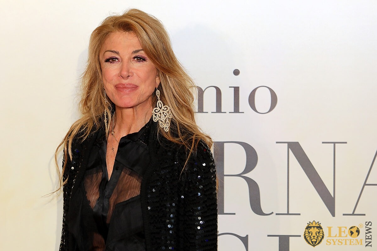 Italian actress Milly Carlucci - Virna Lisi 2019 Award at the Auditorium Parco della Musica