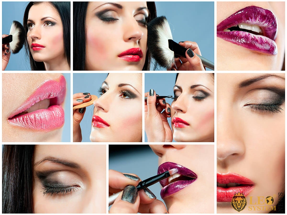 Picture instructions for step-by-step makeup