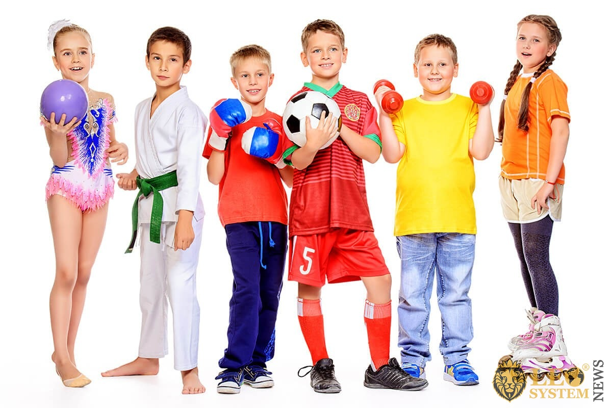 Children with various hobbies in sports