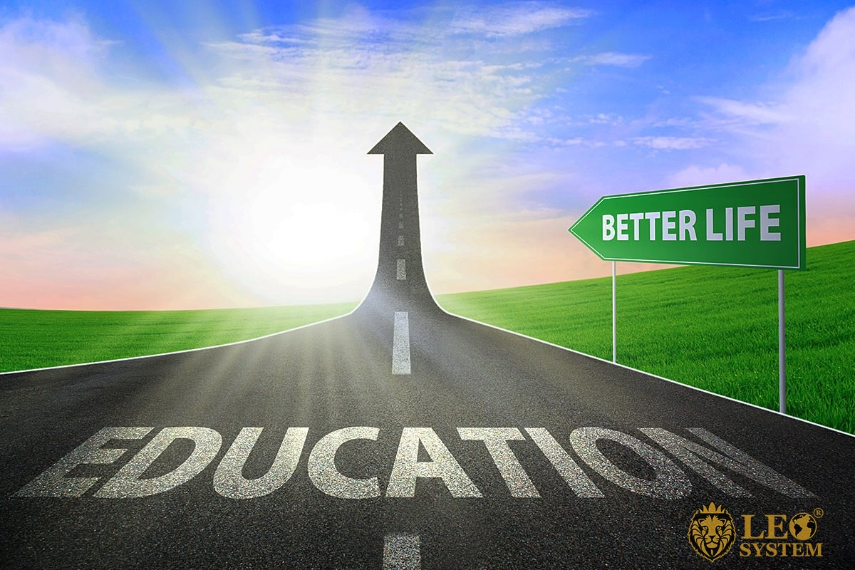 Image of the road to education