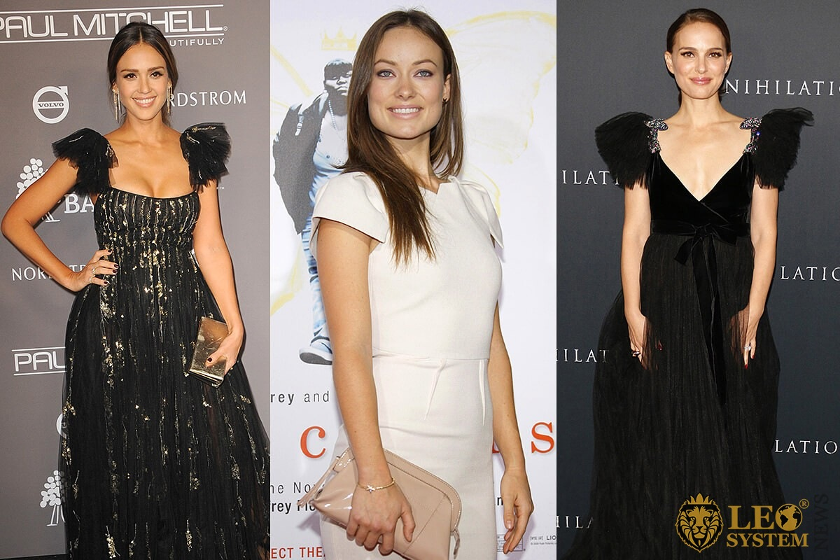 Jessica Alba, Olivia Wilde, Natalie Portman - popular star brunettes