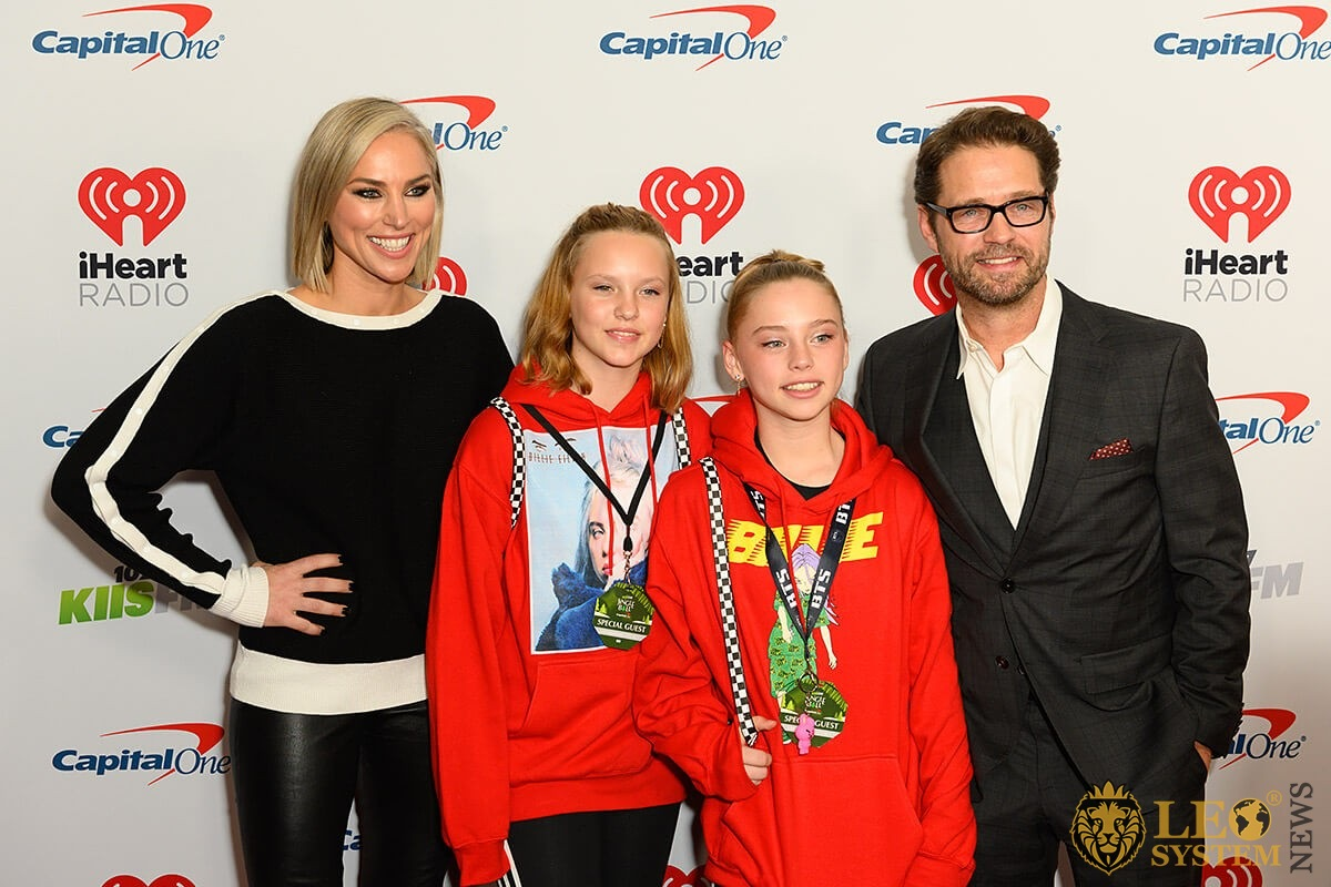 Jason Priestley and family arrives for the KIIS FM iHeartRadio Jingle Ball at the Forum Los Angeles in Inglewood, California, USA