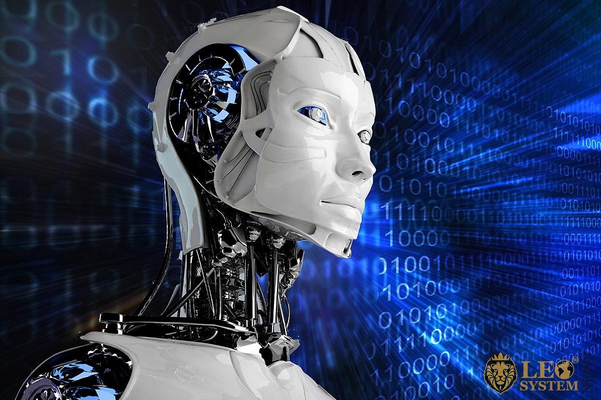 Image of smart humanoid robot