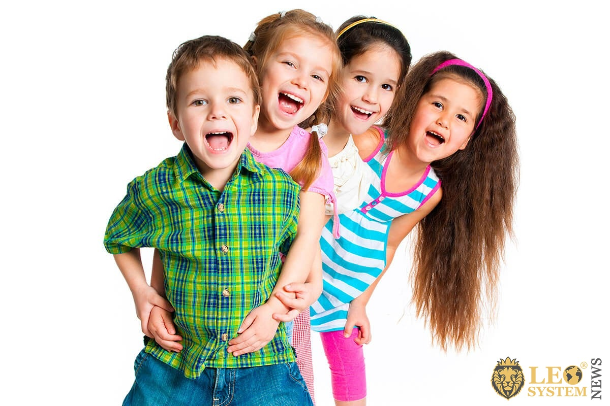 Image of joyful and happy kids playing