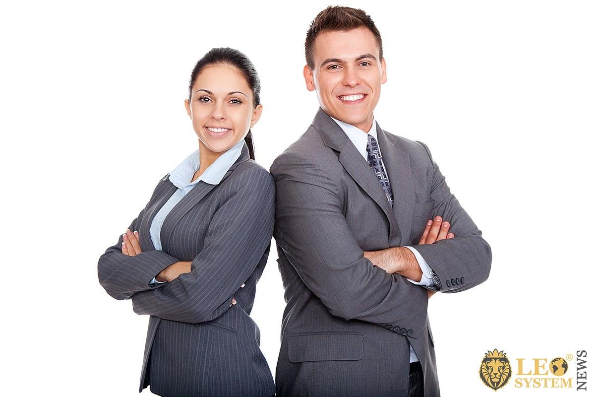 Image of good communication man and woman