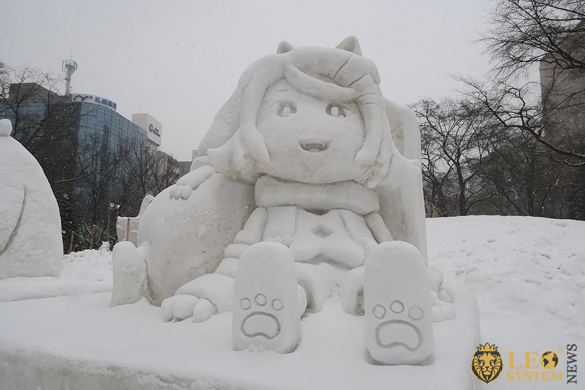 Snow sculpture in Sapporo Snow Festival 2020