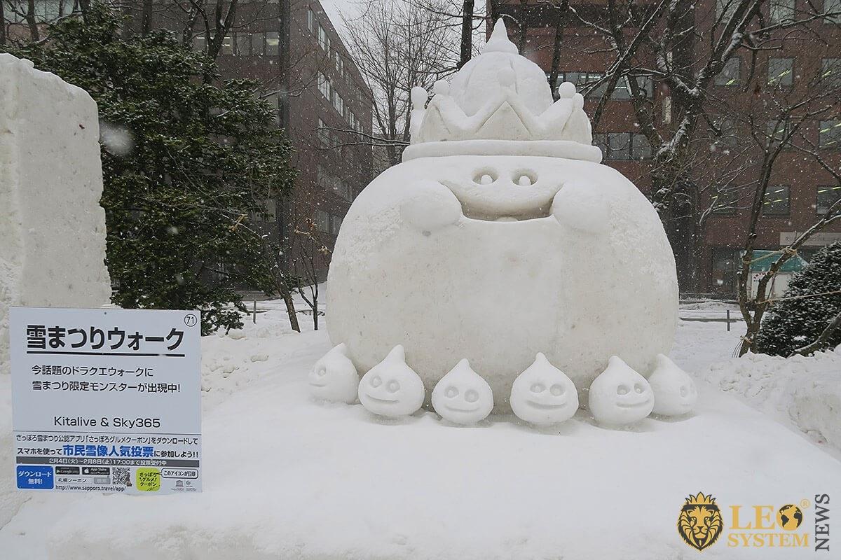 Snow sculpture in Sapporo Snow Festival 2020