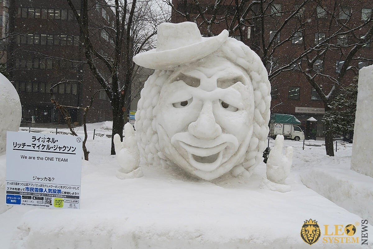 Image of snow sculpture in Sapporo, Japan