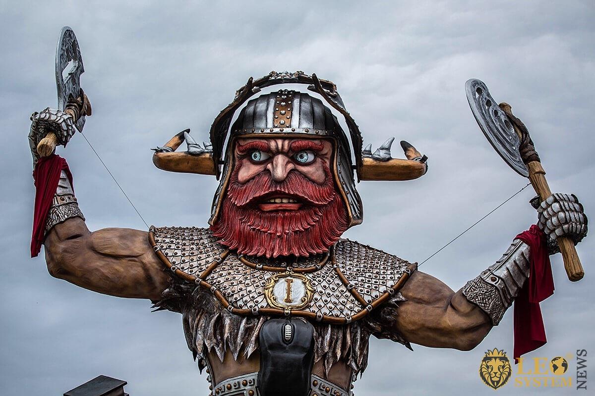 Image of Parade of Carnival floats, Viareggio city, 2020