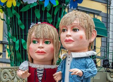 Carnival Parade on the Streets of Viareggio, Italy