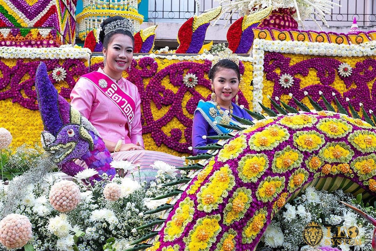 Annual Flower Festival Parade, Chiang Mai, Thailand, event