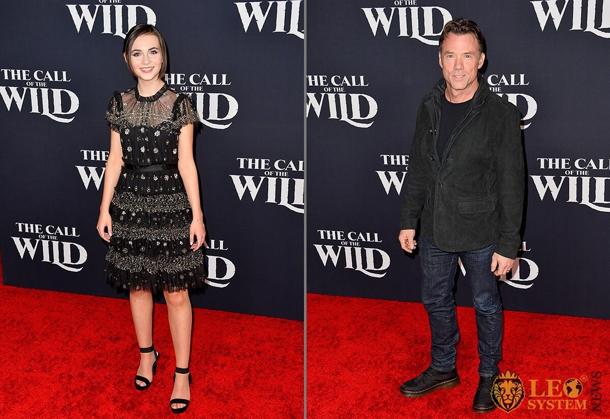 Lara McDonnell and Terry Notary - premiere of The Call of the Wild, Los Angeles, USA