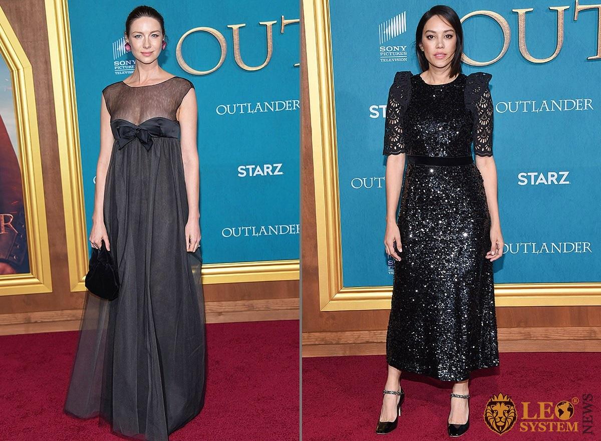 Caitriona Balfe and Mishel Prada arrives for the Outlander Season 5 Premiere, Hollywood, Los Angeles