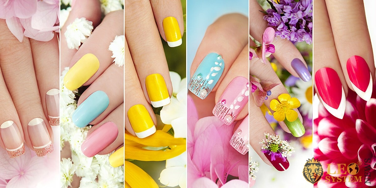 Various combinations of beautiful manicure for women