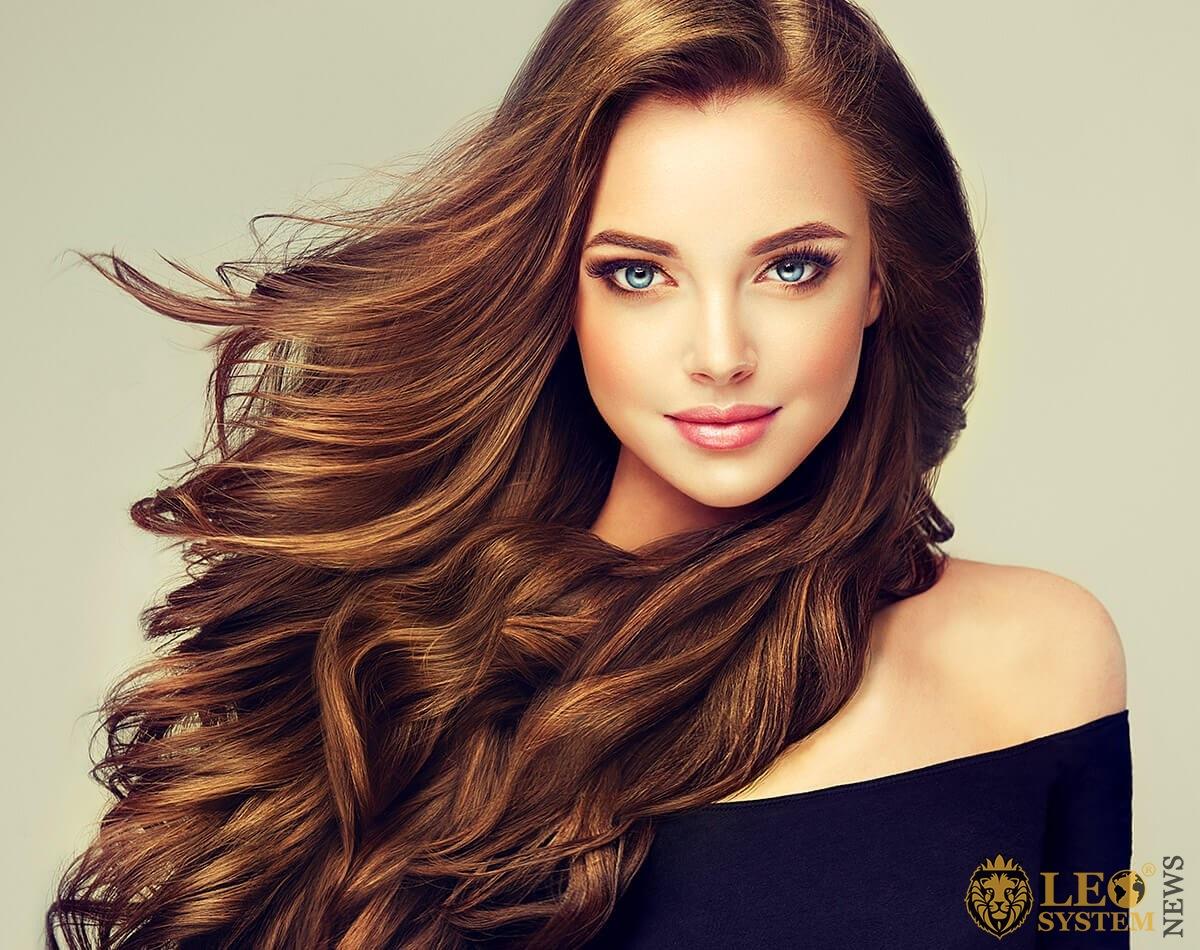 Nice girl with silky hair