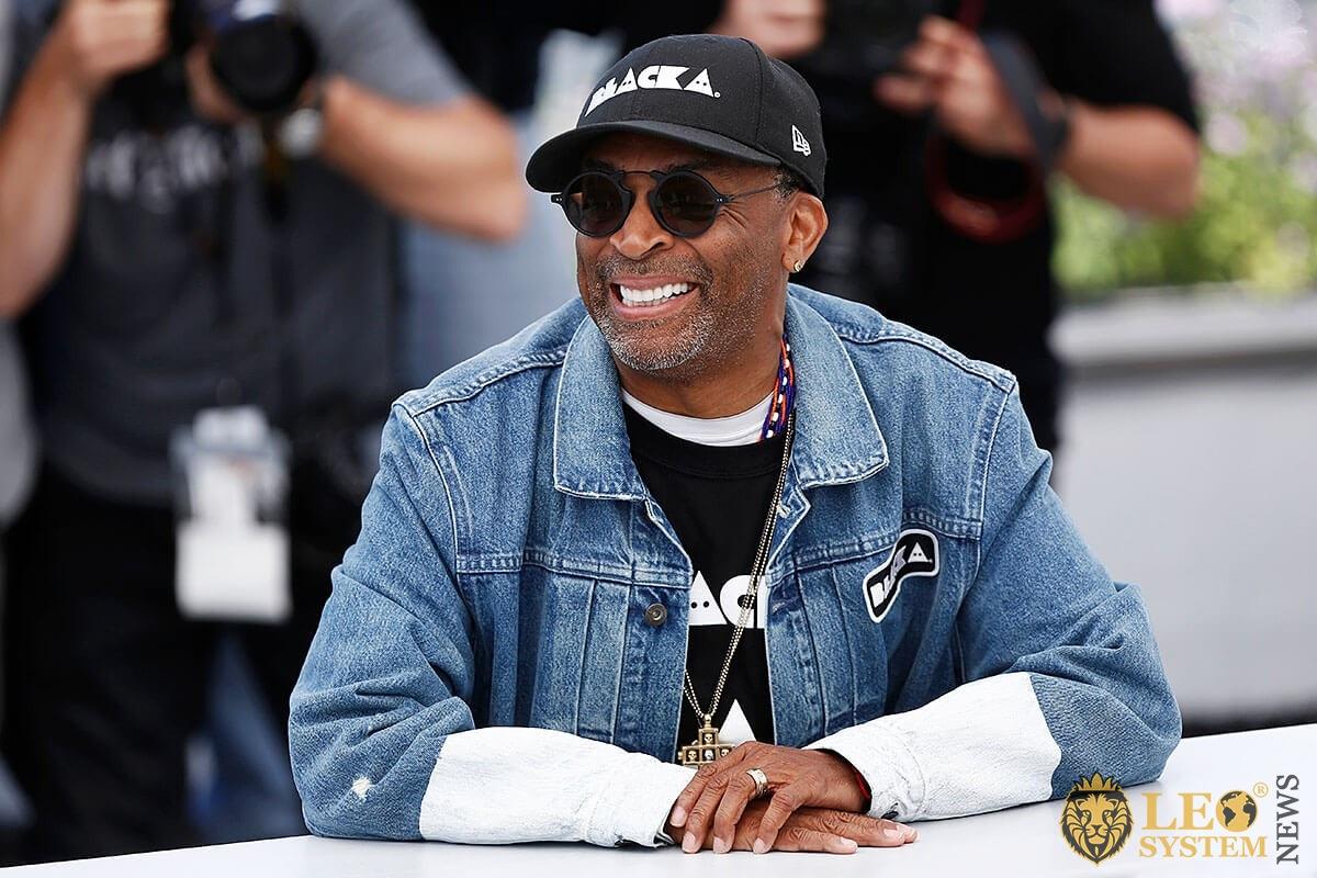 Image of Spike Lee - smiles joyfully
