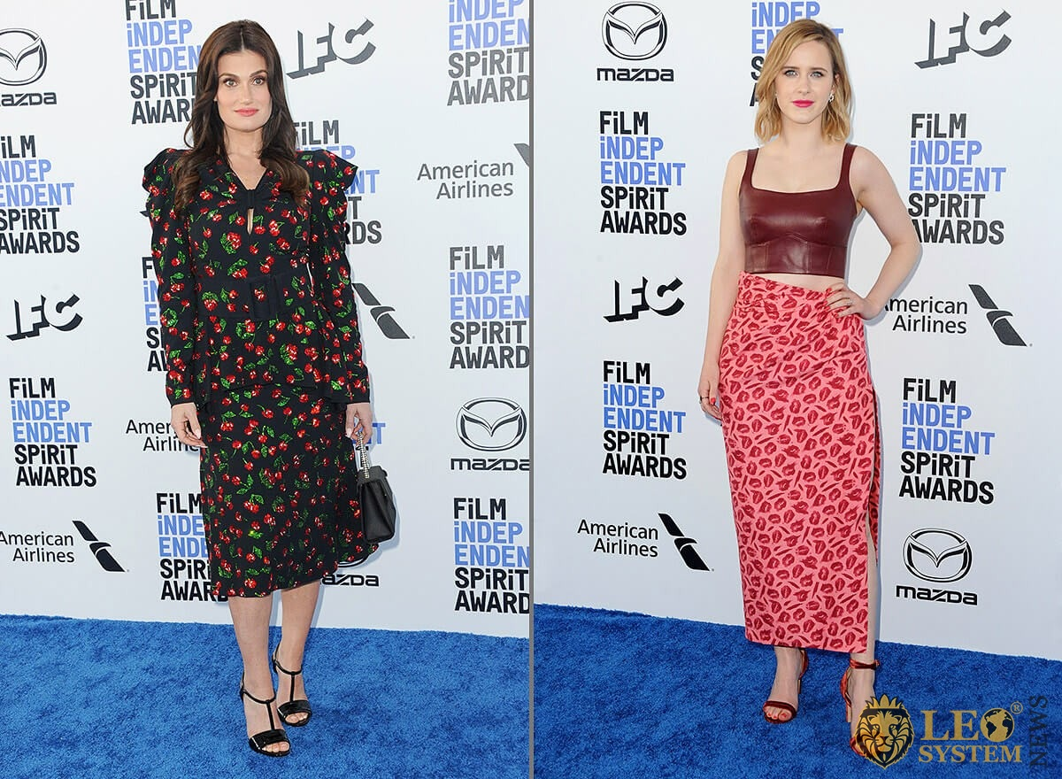 Idina Menzel and Rachel Brosnahan - 35th Annual Film Independent Spirit Awards, Santa Monica, Los Angeles