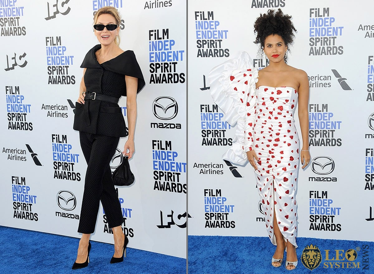 Renée Zellweger and Zazie Beetz at the 35th Annual Film Independent Spirit Awards, Los Angeles, California