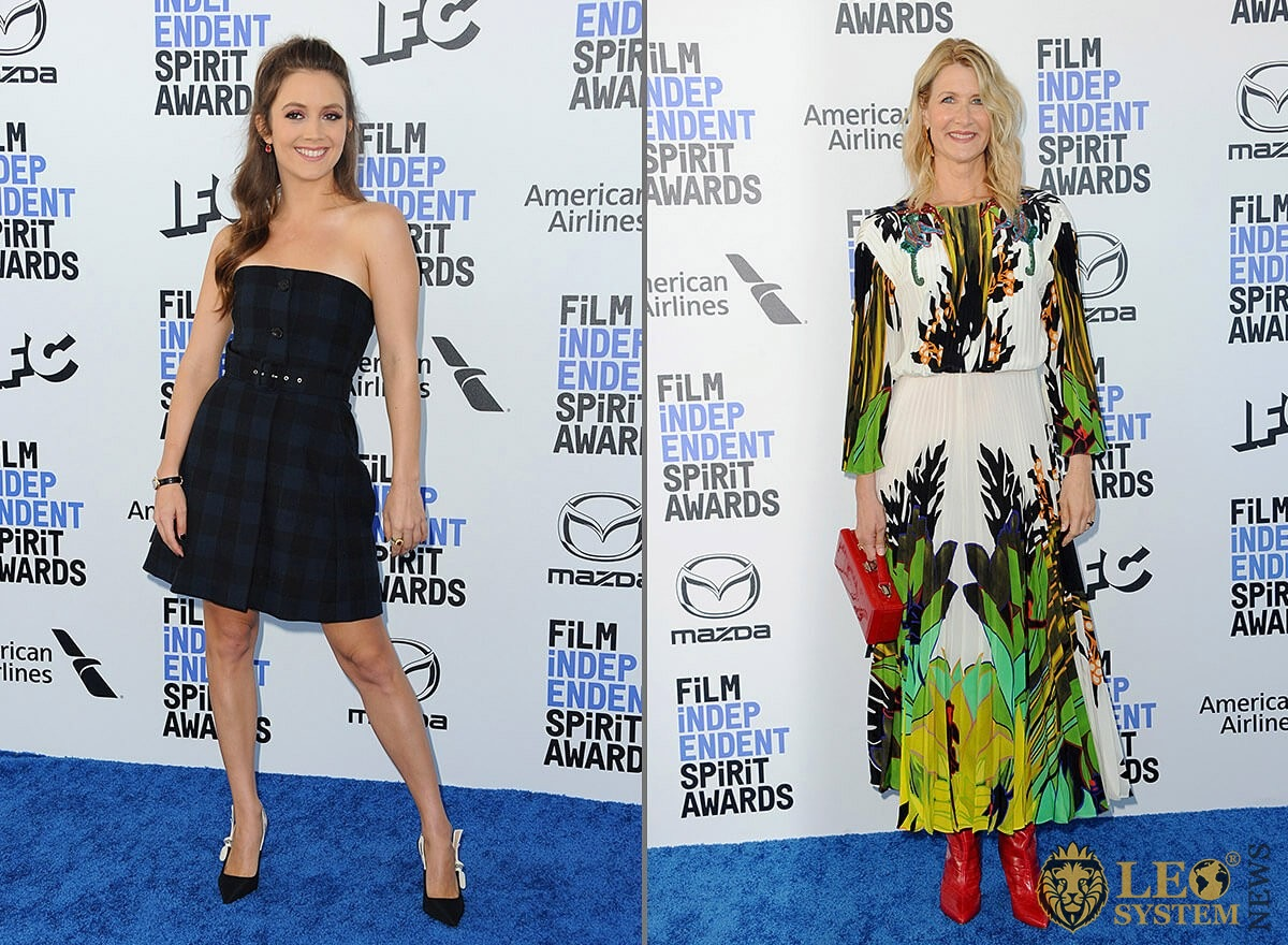 Billie Lourd and Laura Dern at the 35th Annual Film Independent Spirit Awards, Santa Monica, Los Angeles