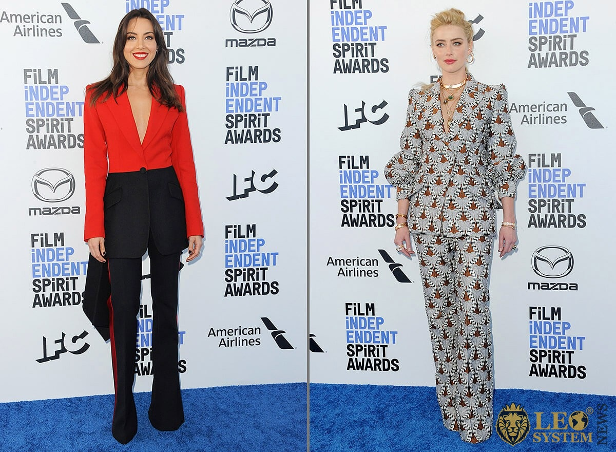 Aubrey Plaza and Amber Heard - 35th Annual Film Independent Spirit Awards, Santa Monica, Los Angeles