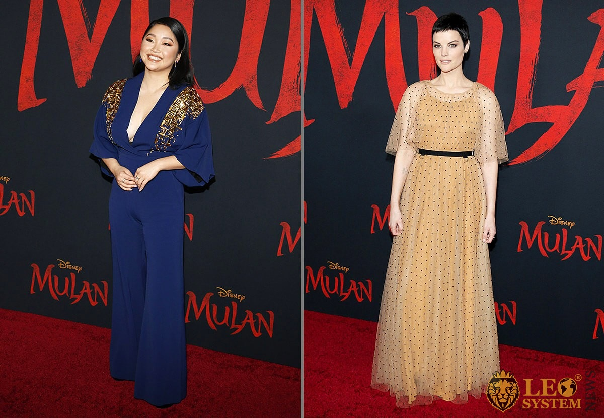 Lana Condor and Jaimie Alexander at the World Premiere of Disney's «Mulan», Dolby Theatre in Hollywood, Los Angeles