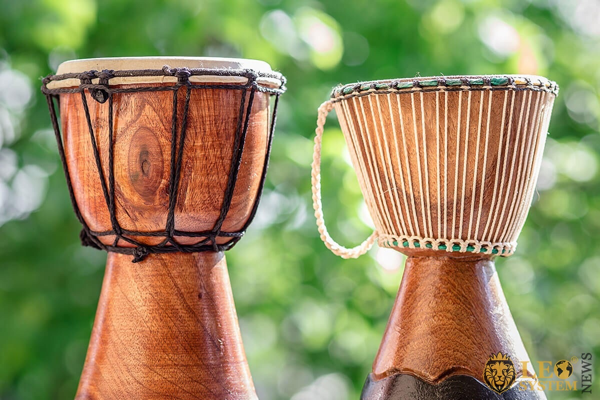 Image of vintage percussion musical instruments