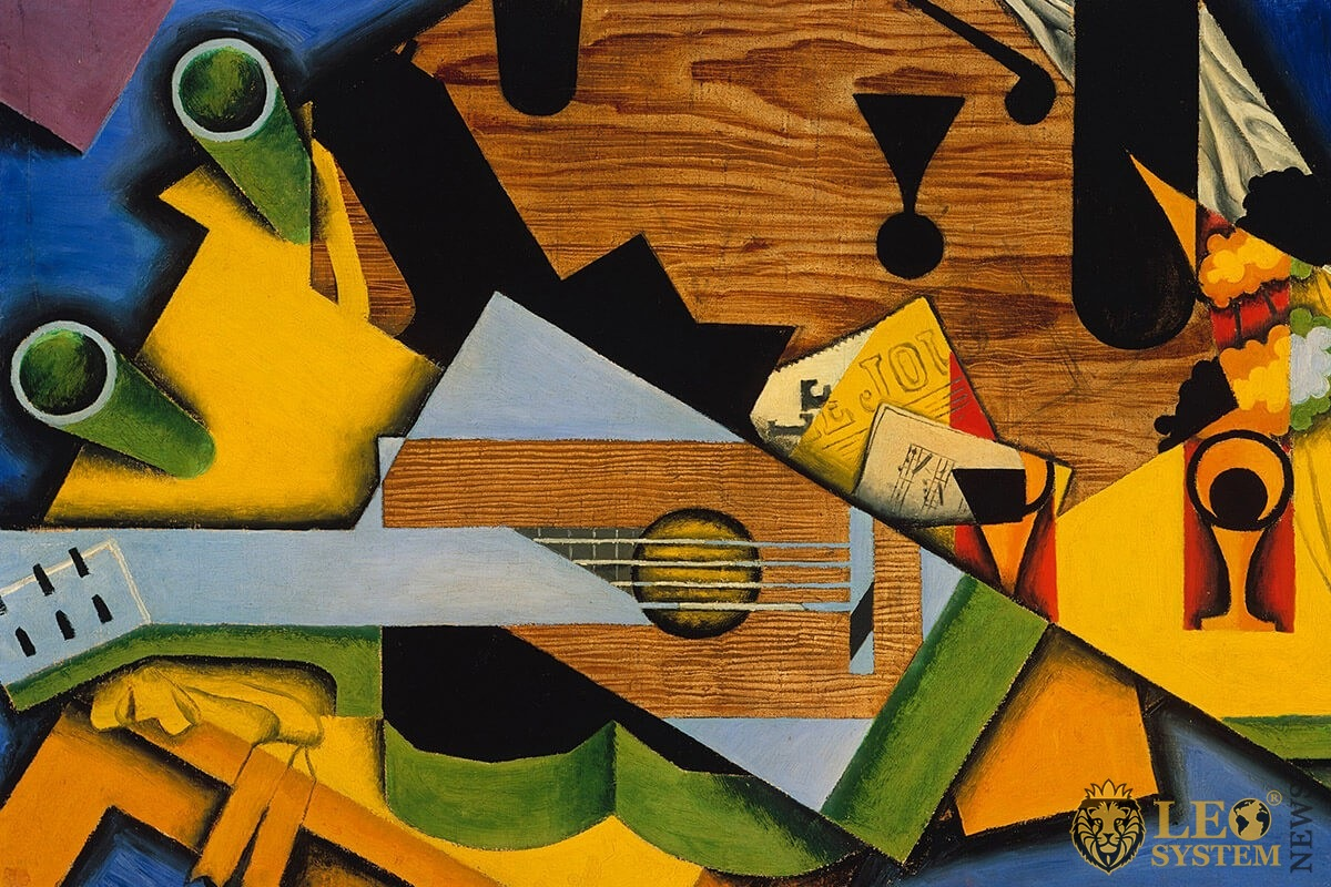 Drawn abstraction of musical instruments