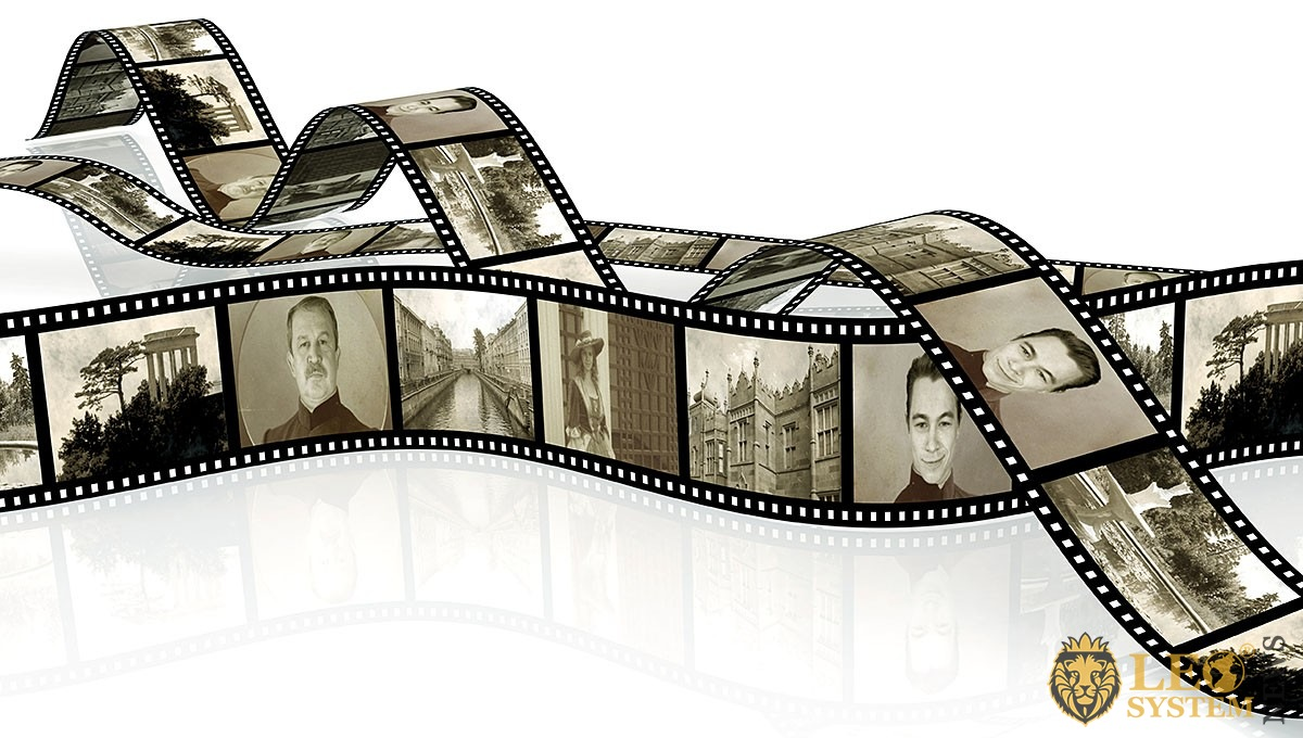 Black and white film with slides