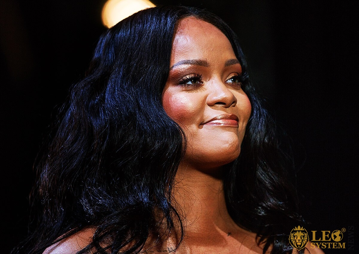 Singer Rihanna with a charming smile