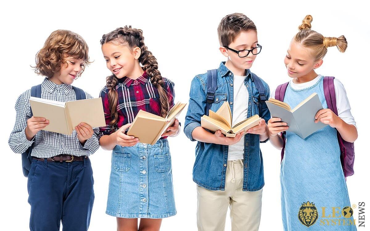 Image of children reading books
