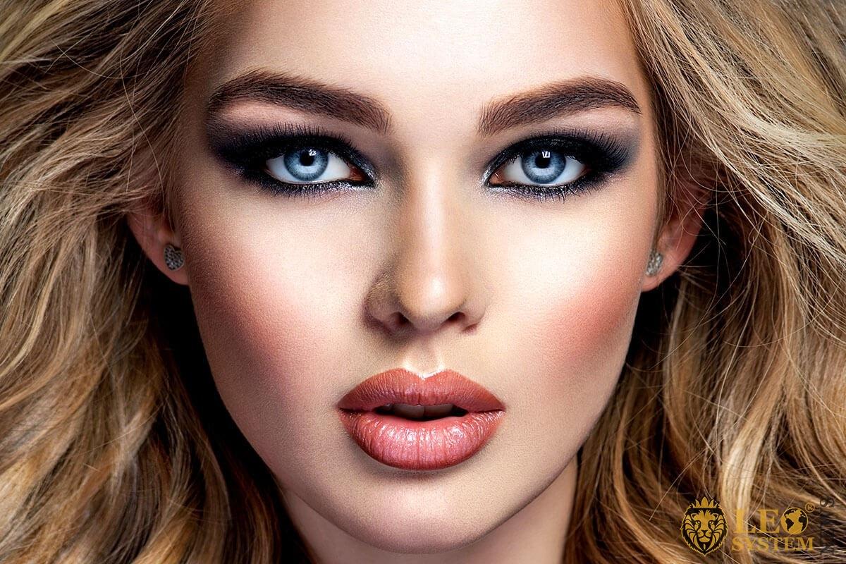 Beautiful face blonde